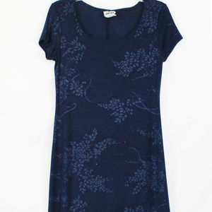 Jalate Dress Leaf Print Short Sleeve Maxi